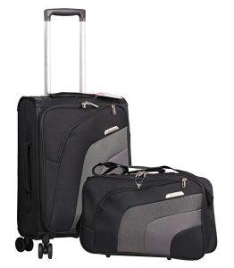 Aerolite 21 Inch Carry On Lightweight 4 Wheel Spinner Suitcase & Flight Bag Under Seat Shoulder Bag Set