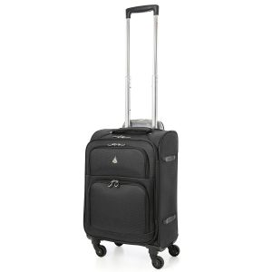 Aerolite American, United & Delta Airlines MAX Size Ultra Light 4 Wheel Spinner Hand Cabin Carry On Luggage Suitcase 22x14x9