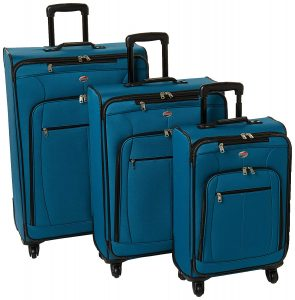 American Tourister AT Pops Plus 3pc Nested Set 21 25 Spinner 29, Moroccan Blue