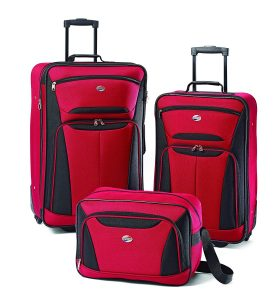 American Tourister Luggage Fieldbrook II 3 Piece Set, Red Black