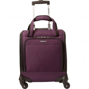"American Tourister Lynnwood 16"" Underseat Spinner Carry-On Luggage With Wheels - (Eggplant)"