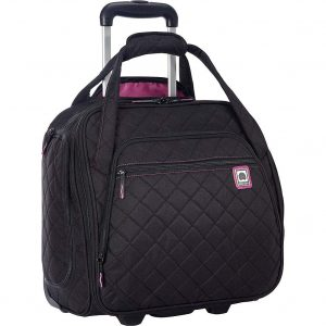 Delsey Quilted Rolling Underseat Bag For Carry-On Fits Overhead