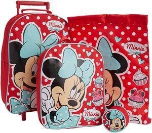 Disney Minnie Mouse Travel Set ( Carry Case- Luc knapsack - Mini Pouch )
