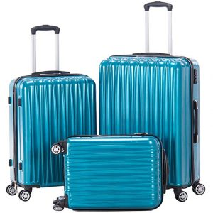 Hardside Spinner Luggage Set 3 piece Suitcase set Lightweight with TSA lock 20inch carry on 24inch 28inch