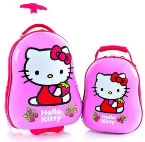 Heys America Hello Kitty Kids 2 Pc Luggage Set -18 Carry On Luggage & 12 Backpack
