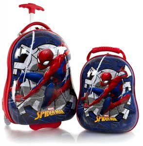 Heys America Spiderman Boys 2 Pc Luggage Set kids -18 Carry On Luggage & 12 Backpack