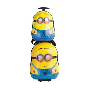 MOREFUN Minion 20' Kids Carry on Luggage and 16 Travel Backpack for Toddlers