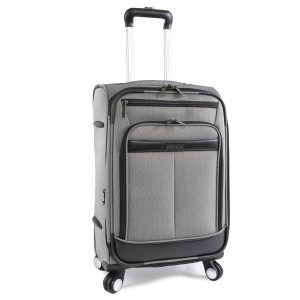 Perry Ellis Lexington Ii Lightweight Carry-on Spinner Luggage, Herringbone