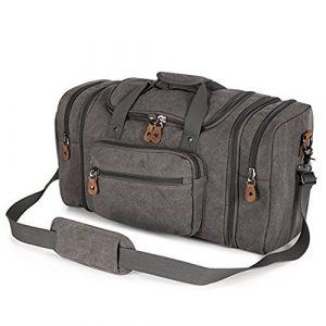 Plambag Canvas Duffle Bag for Travel, 50L Duffel Overnight Weekend Bag