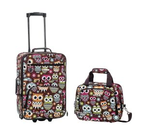 Rockland Luggage 2 Piece Set kids, Owl, One Size