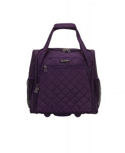 Rockland Wheeled Underseat Carry-On, Purple, One Size