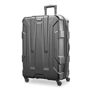 Samsonite Centric Expandable Hardside Checked Luggage with Spinner Wheels, 28 Inch, Black