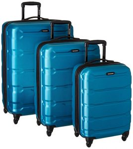 Samsonite Omni PC 3 Piece Set Spinner 20 24 28, Caribbean Blue