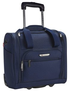 "TPRC 15"" Under Plane Seat ""The Rafael"" Luggage Made of Top Durable Fabric Constructed for Millions of Travel Miles, Navy Color Option"