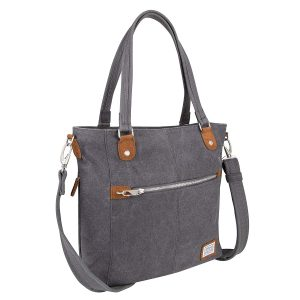 Travelon Anti-Theft Heritage travel Totes Bag, Pewter