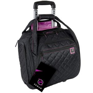 ZEGUR Quilted Rolling Underseat Carry-On Luggage - Wheeled Travel Tote Bag