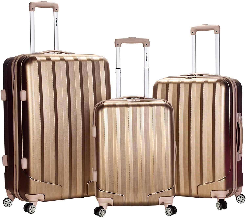 Rockland Metallic Luggage Hardside