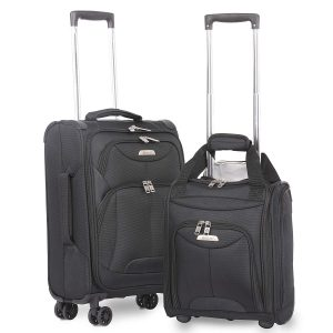 "Aerolite 21"" Inch Carry On Lightweight 4 Wheel Spinner Suitcase"