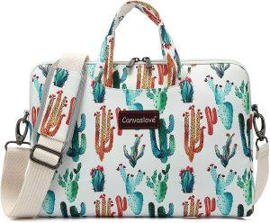 cactus pattern laptop bag