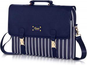 blue striped laptob bag