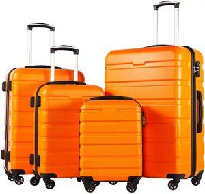 orange luggage set