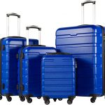 blue 4 piece luggage
