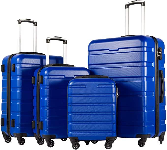 blue 4 piece luggage
