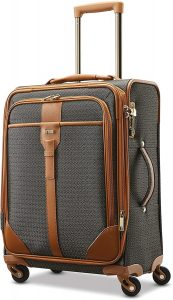 jacquard carry-on suitcase