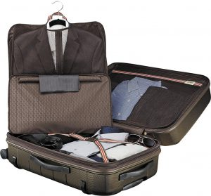 hartmann checked suitcase
