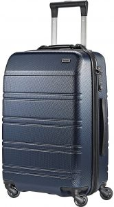 carry-on navy suitcase
